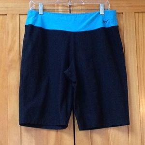 Nike Fit Dry Blue Black Athletic Shorts L